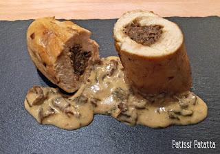 ballotines de poulet aux cèpes, recette de ballottines de poulet, farce aux cèpes, cuisiner des cèpes séchés, poulet aux cèpes, sauce aux cèpes, recette festive.