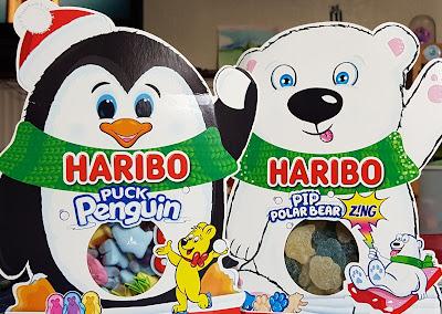 HARIBO Pip Polar Bear and Puck Penguin Christmas sweets