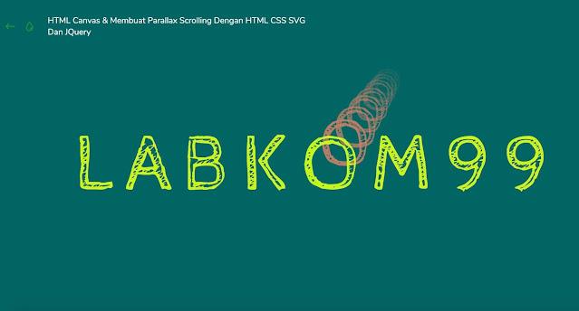 Membuat efek animasi teks keren menggunakan HTML5