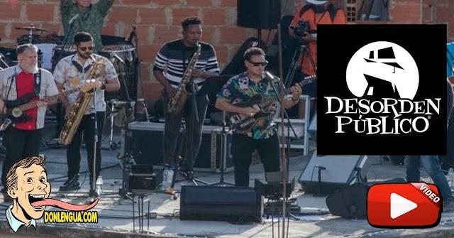 Desorden Público se apodera de Petare para dar su mejor concierto al aire libre