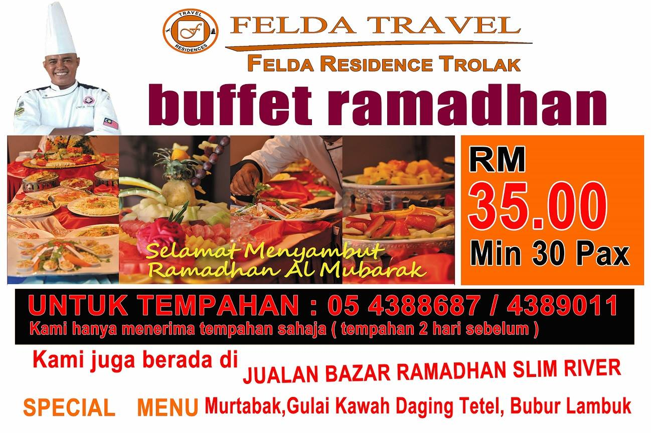 Image result for Buffet Ramadhan – Felda Residence Hot Springs