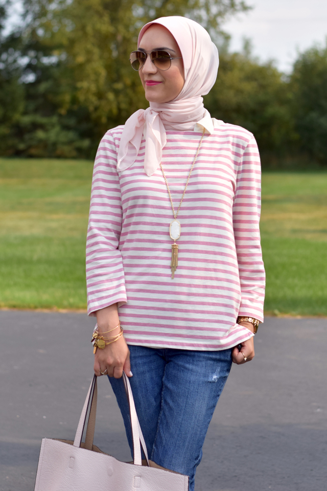 Fashion Blogger-Striped Tee-Summer Style-Nordstrom Anniversary Sale-NSale-Modest Fashion-Summer Tee-Stripes