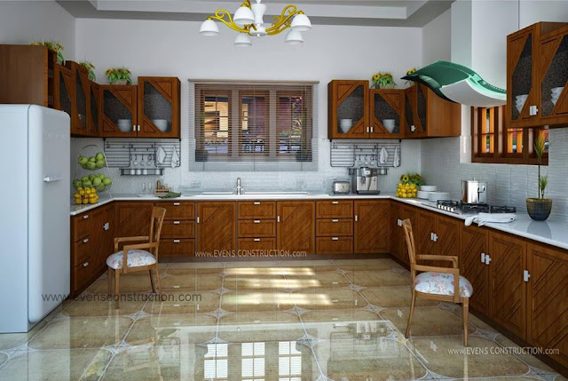 Classic Beige Kitchen Cabinet Design