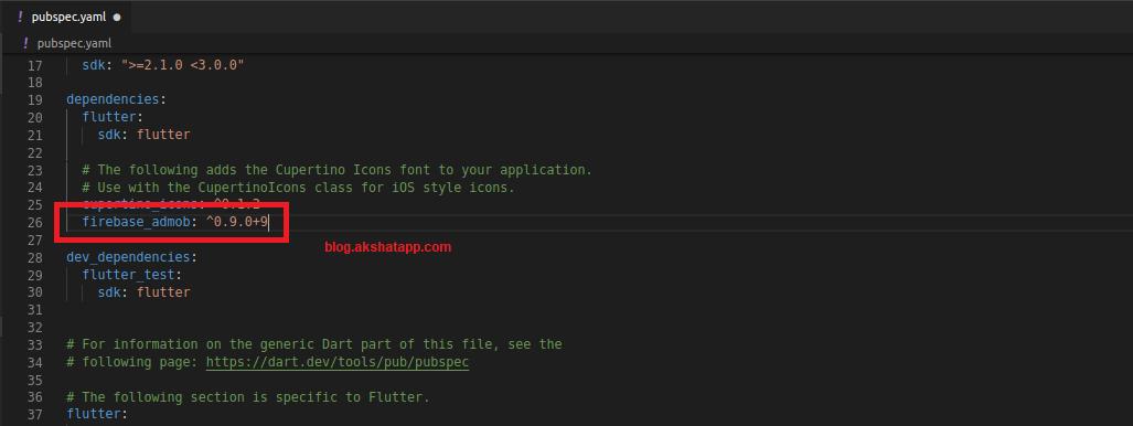 Adding Flutter Package