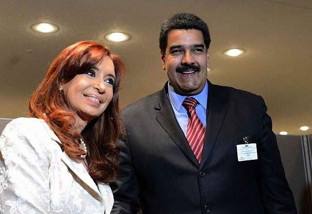 Negócios espalhafatosos e pagamentos nunca efetivados: Cristina Kirchner com Maduro.