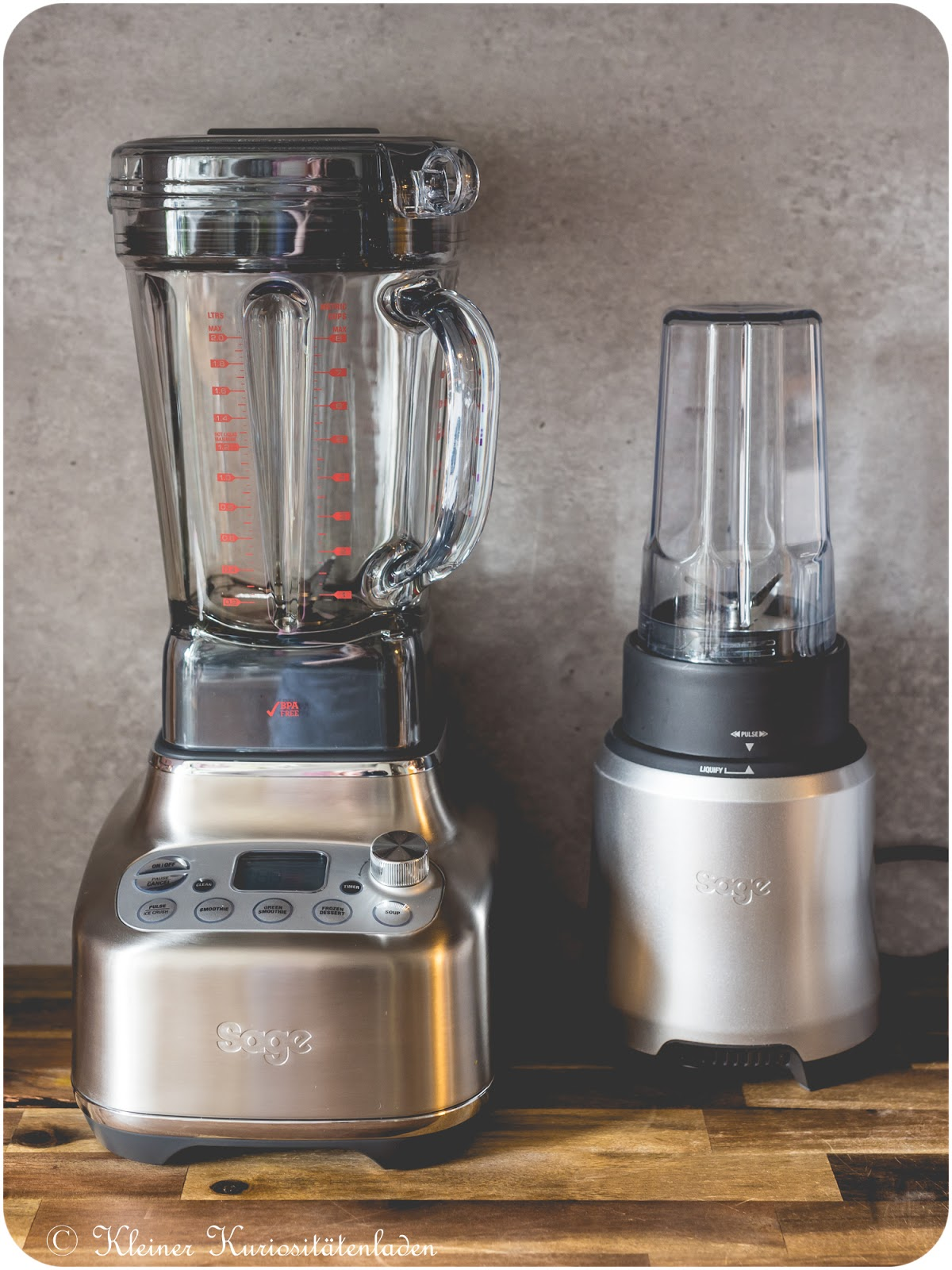 Links: The Super Q von Sage Appliances | Rechts: The Boss To Go von Sage Appliances