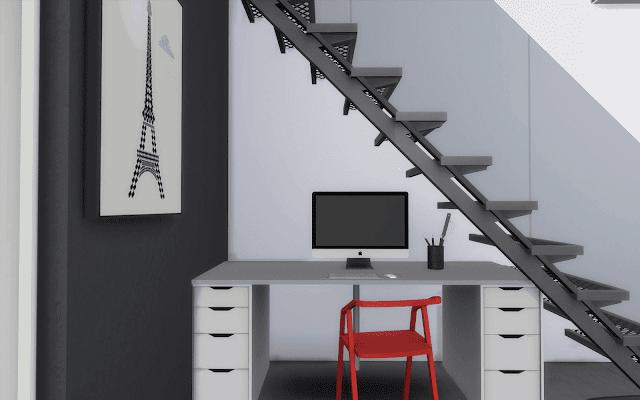 white desk sims 4