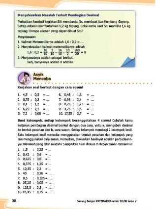 kunci jawaban senang belajar matematika kelas 5 kurikulum 2013 revisi 2018