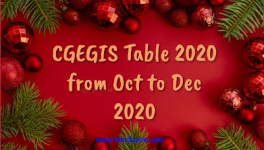 CGEGIS table from october 2020 to december 2020
