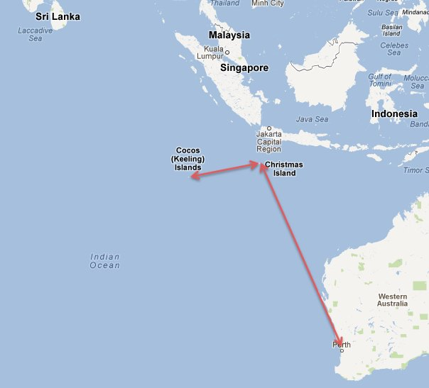 Cocos Island: Roger And Luisa's Travel Blog: Cocos And Christmas Islands