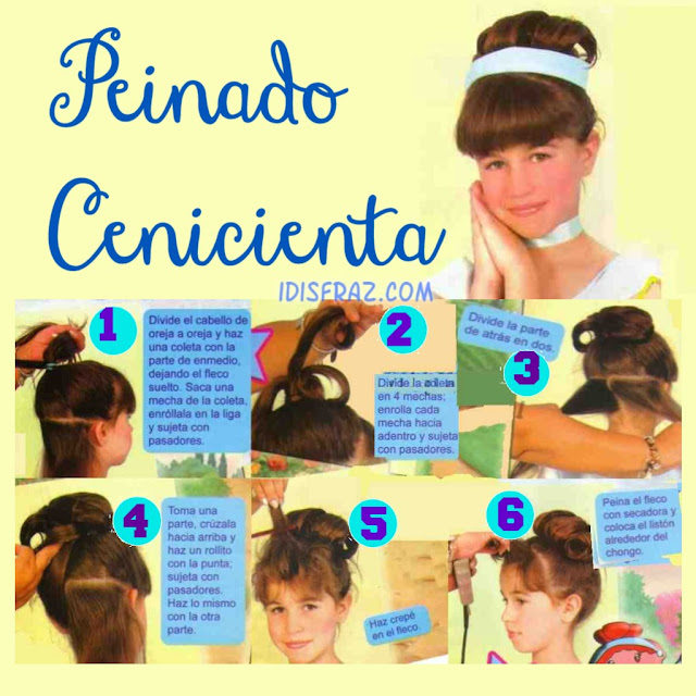 Peinado de Cenicienta para niñas