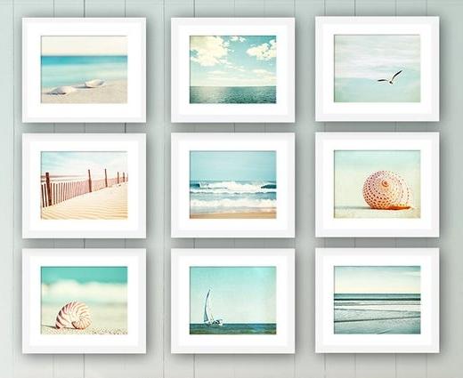 Beach Photograpy Art Print Sets