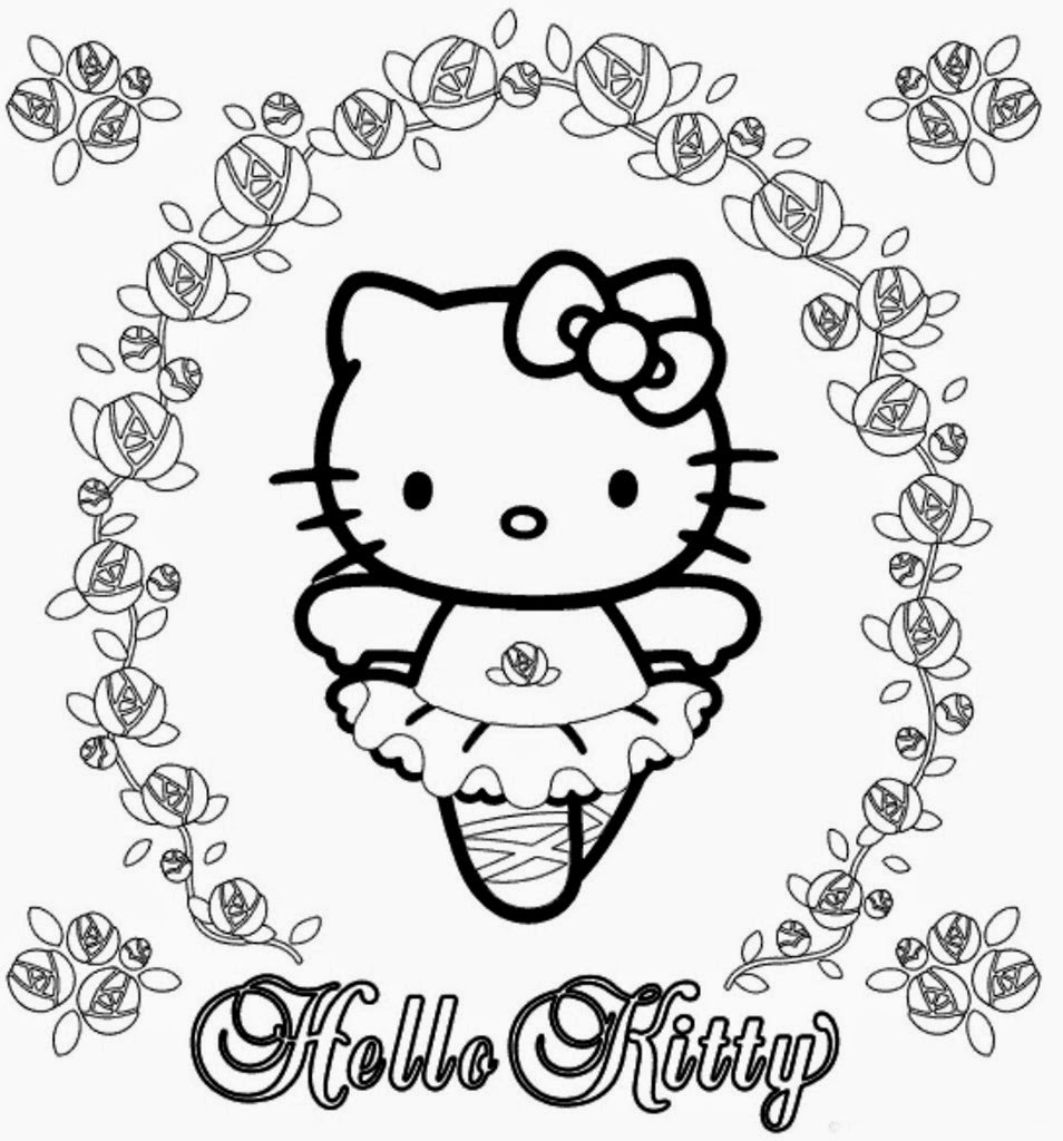 Blog MegaDiverso: Imprimir y colorear a Hello kitty