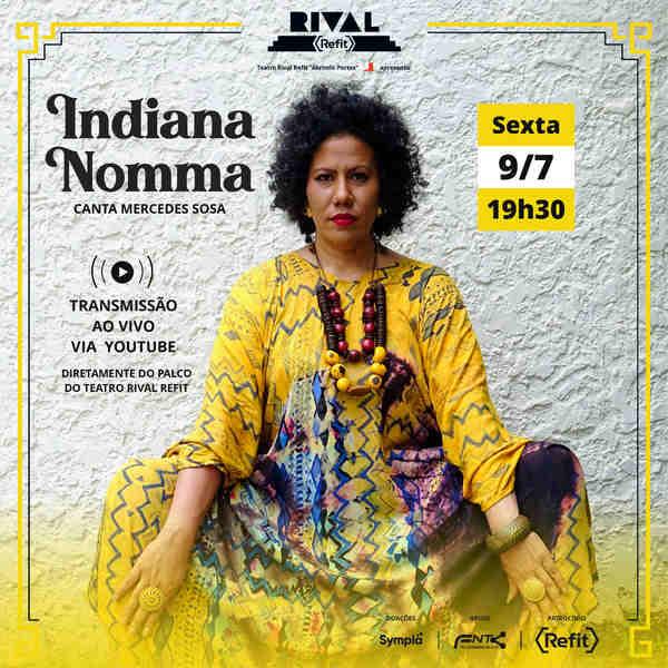 A cantora brasileira-hondurenha Indiana Nomma segue a tradição de render homenagem a Mercedes Sosa, cantora argentina que faria 86 anos no dia 9 de julho. Há 21 anos, Indiana comemora o nascimento da maior voz da América Latina.