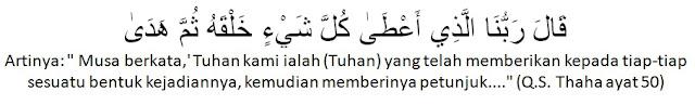 surah Thaha ayat 50
