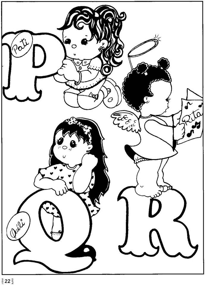 Alfabeto nombres de niñas