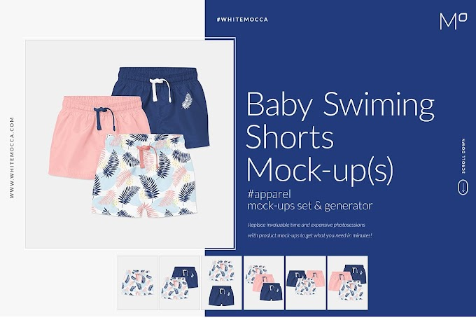 Baby Swimming Shorts Mock-ups Set[Photoshop][4543564]