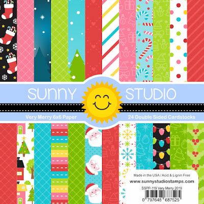 Sunny Studio Stamps: Very Merry 6x6 Christmas Holiday Patterned Paper Pack
