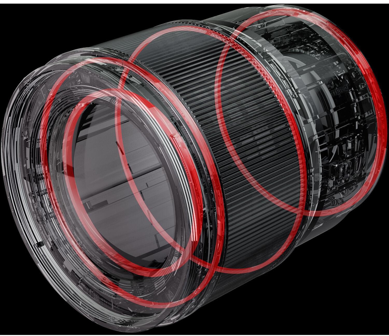 Уплотнители для защиты от попадания влаги и пыли в объективе Panasonic Lumix S 85mm f/1.8