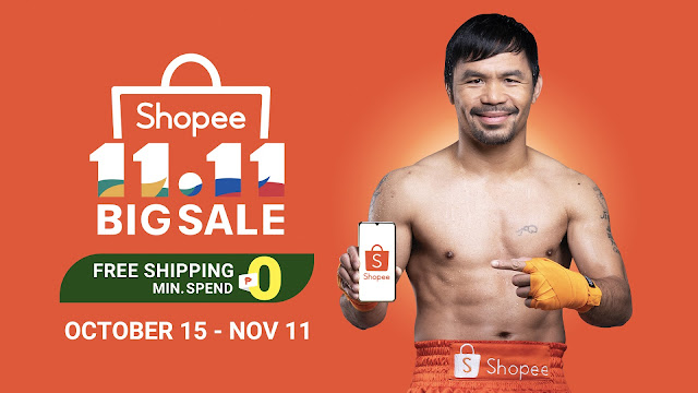 Shopee Launches Manny Pacquiao as its Newest Brand Ambassador for Shopee 11.11 – 12.12 Big Christmas Sale