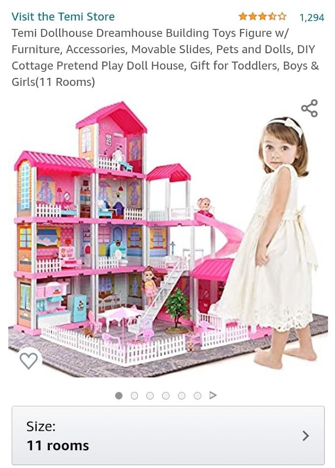 50% OFF 11 Room Dollhouse Dreamhouse