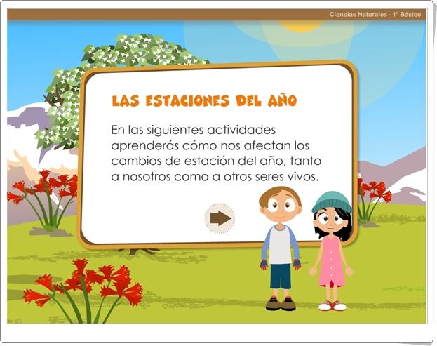 Las estaciones del año (Aplicación interactiva de Ciencias Sociales de Primaria)