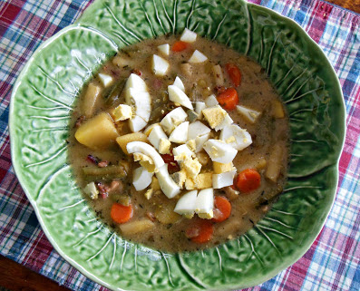 Green Bean Soup, our suggestion for Sunday Dinner at 3:00.