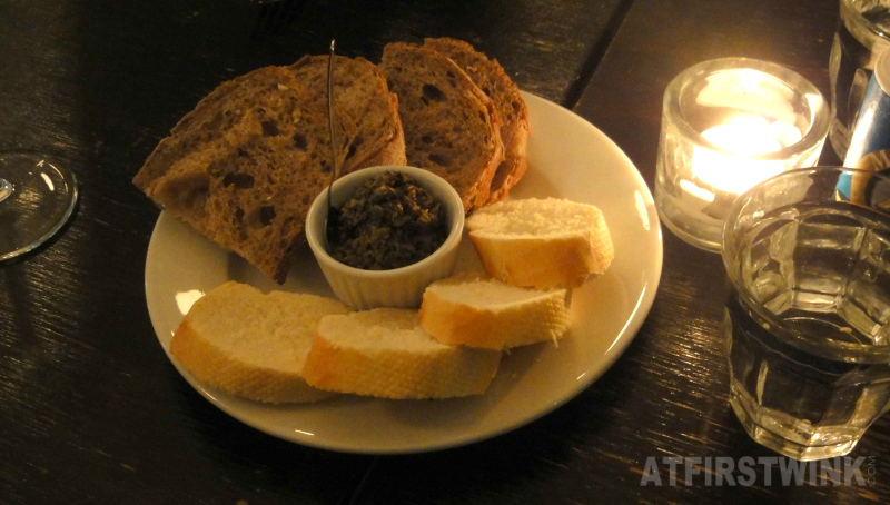 bread and olive tapenade on the house | Restaurant Rodin Rotterdam