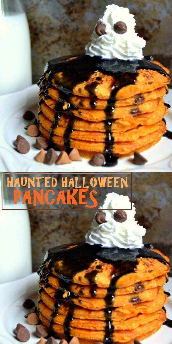 HAUNTED HALLOWEEN PANCAKES #halloweenrecipes