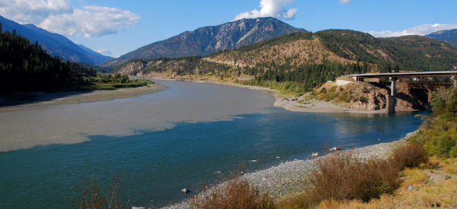 The confluence of the Thompson and Fraser at Lytton, Canada