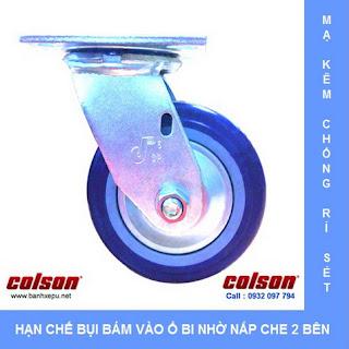 Bánh xe PU 100 công nghiệp chịu tải nặng 243kg | S4-4209-925P www.banhxepu.net
