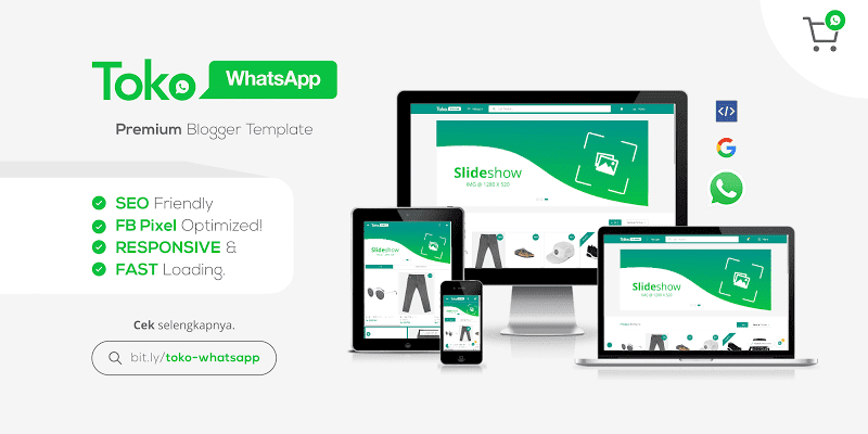 New WhatsAppStore v1.3 Responsive Blogger Template