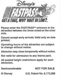 Disney Dinosaur Fastpass 2004 Back Disney's Animal Kingdom