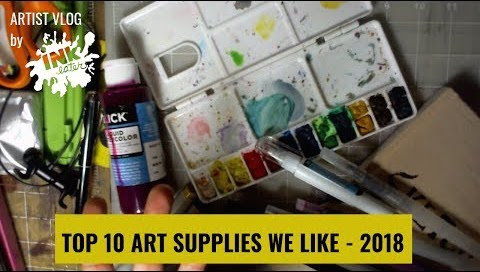 TOP 10 Art Supplies of 2018 - Lets Talk Art