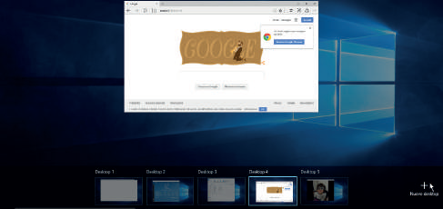 Come gestire Desktop Virtuali su Windows 10 (scorciatoie tastiera) nuovo desktop