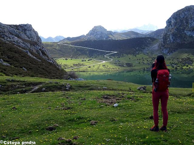 Cerca del Lago Enol en los Lagos de Covadonga.