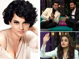 Kangana reacts to Alia Bhatt & Ranveer Singh's mockery on her