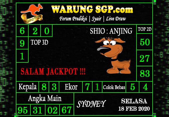 Prediksi Togel Sidney 18 februari 2020 - Prediksi Warung SGP