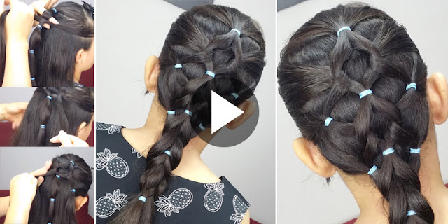 Learn - How To Make Elastic Bands Hairstyle, See Tutorial