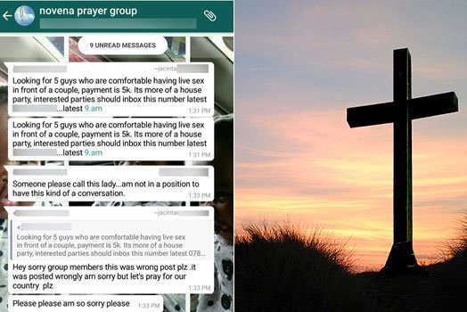 Woman Shared s€x post on Christian prayer group on whatsapp
