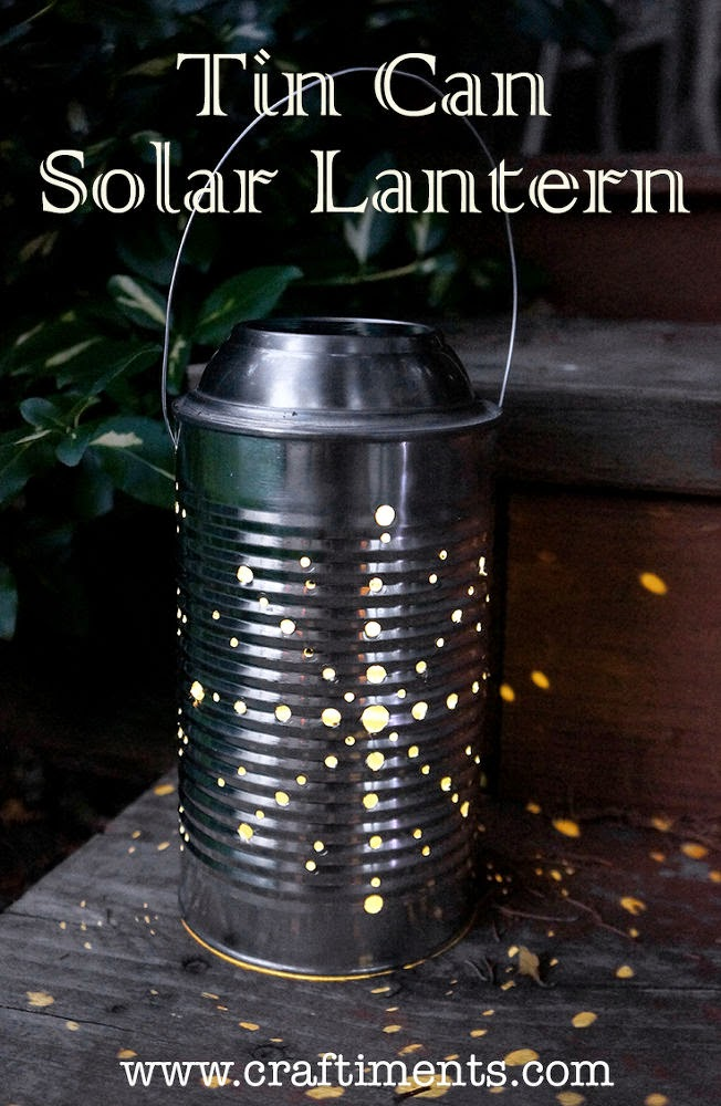 How to make a recycled can solar lantern.