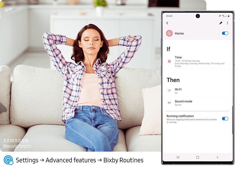 Bixby can optimize your settings according to your daily routines