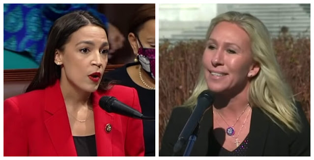 Taylor Greene Calls AOC a 'Terrorist' Over Her Support for Hamas As Attacks on Jews in U.S. Rise