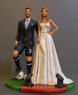 Luxury Cake topper calciatore modella indossatrice moda giocatore calcio orme magiche