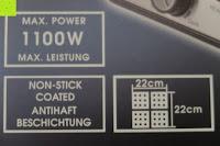 Aufdruck Verpackung: Waffeleisen Belgisch für 4 belgische Waffeln,XXL Waffelautomat,brüssler Doppel,Thermostat, stufenlose Temperatureinstellung, Backampel, Cool-Touch Griff