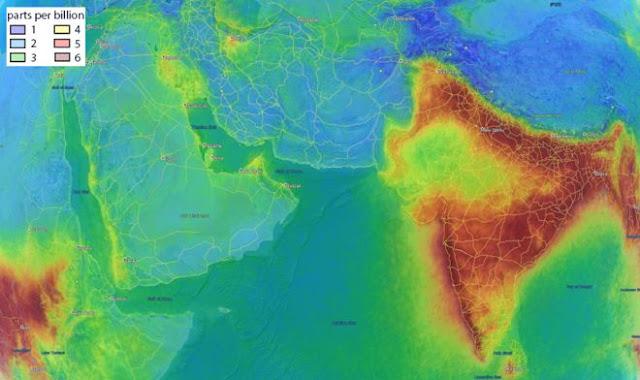 Чому Індія з повітря виглядає інакше?