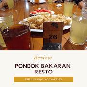 Review Pondok Bakaran Resto Umbulharjo, Yogyakarta