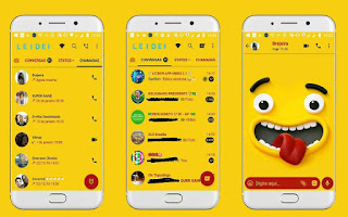 Cute Funny Theme For GBWhatsApp By Leideh