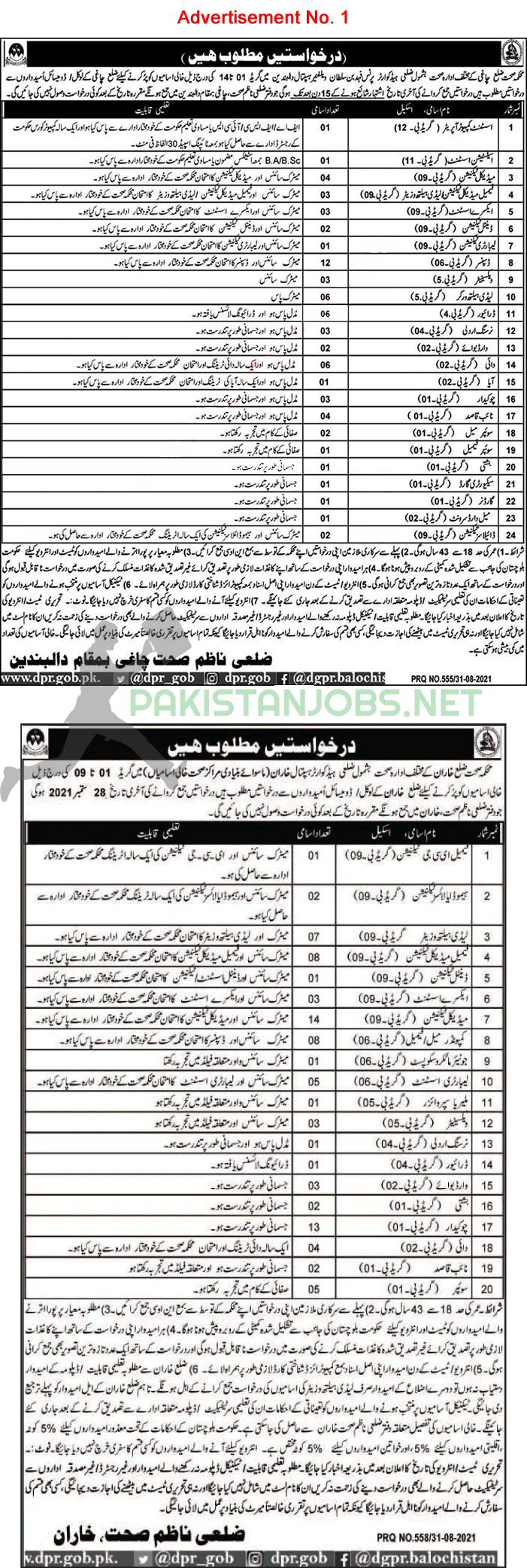 Ministry Of Health Jobs 2021 Latest