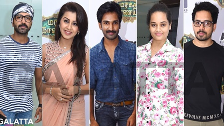 Celebrities at Maragatha Naanayam Premiere Show